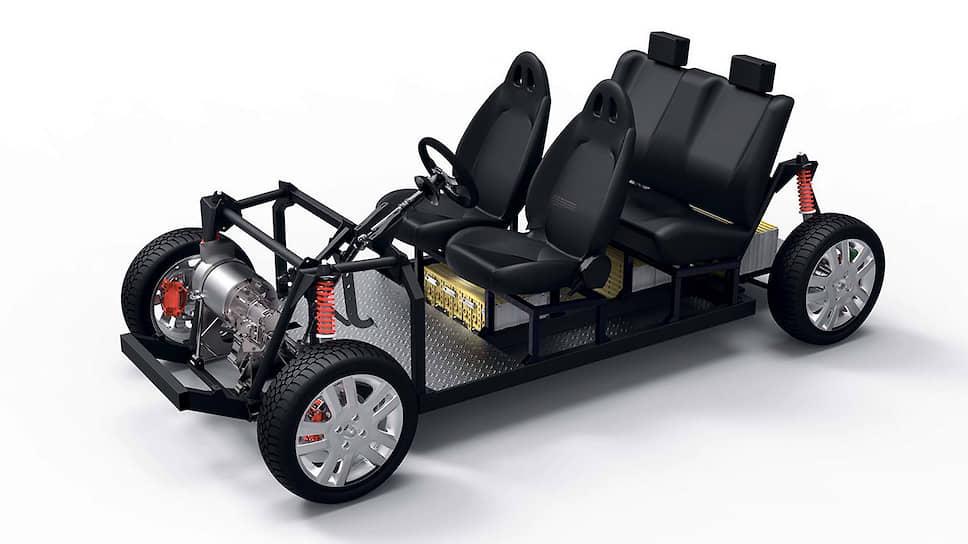Один из самых простых, но в то же время недешевых вариантов постройки собственного электромобиля – приобретение готовой модульной платформы Tabby EVO. Цена комплекта колеблется от 13 880 до 24 961 евро. В стоимость входит асинхронный электромотор мощностью 19 кВт, чей крутящий момент составляет 128 Нм при 500 об/мин, а от приобретения комплекта из 24 элементов LIFePO4 емкостью 160 ампер-часов можно отказаться.