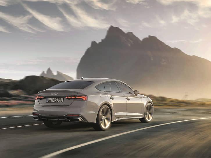 A5 Sportback – носитель самых перспективных технологий, воплощенных в светодиодных фарах Audi Matrix c Audi Laser Light, светодиодных задних фонарях, передних и задних динамических указателях поворота.