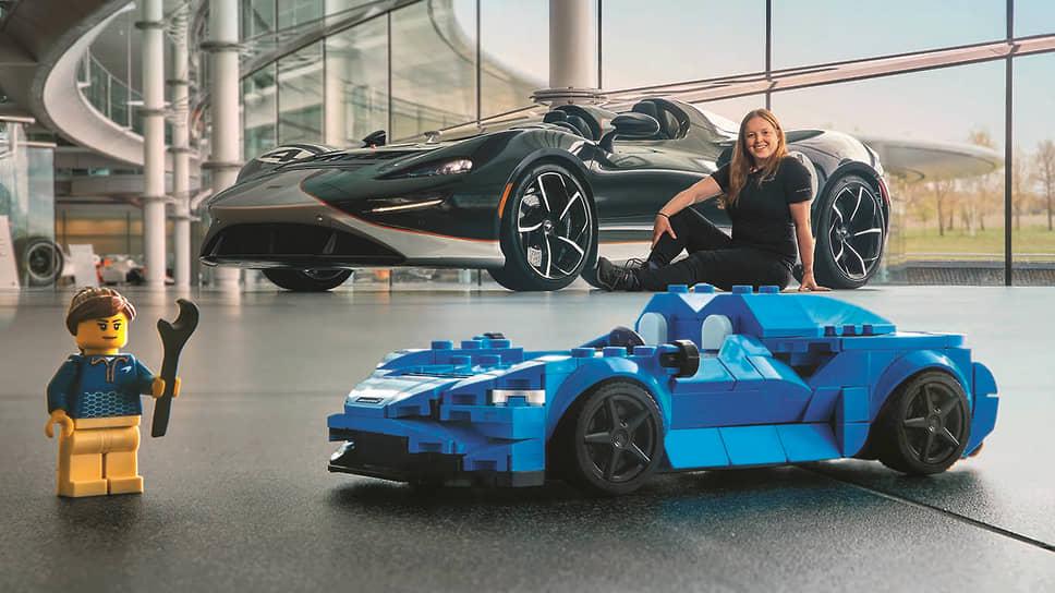 Размер LEGO Speed Champions McLaren Elva – 4 см в высоту, 16 см в длину и 7 см в ширину