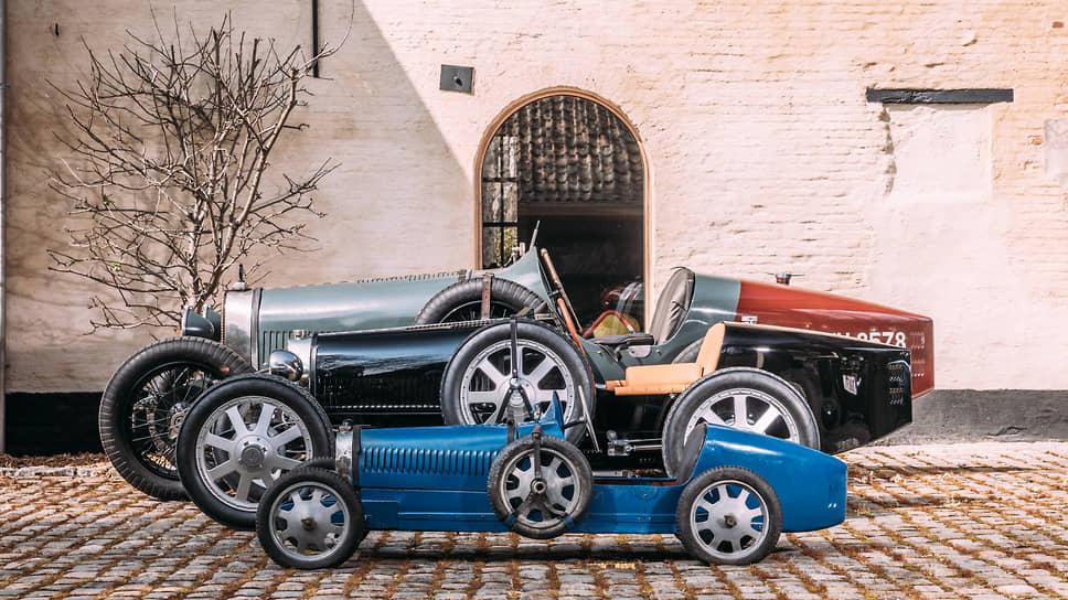 Второй «малыш» отправился в Бельгию. Его кузов выполнен из алюминия Pur-Sang, а цветовая гамма соответствует оригинальному Bugatti Type 35