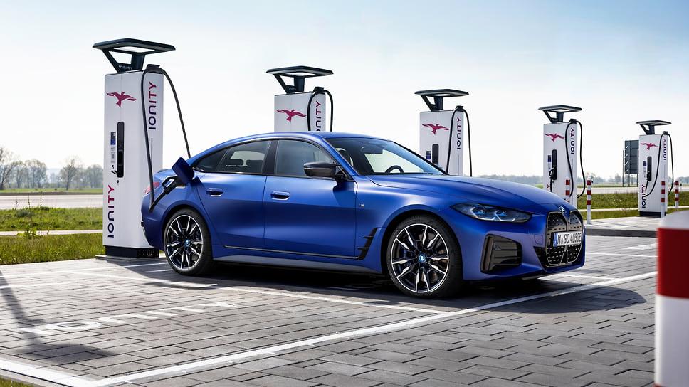 В России будут продавать «заряженный» электромобиль BMW i4 M50