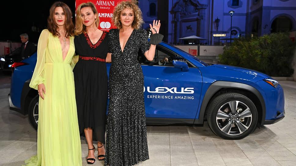 Итальянские актрисы Валентина Черви, Жасмин Тринка и Валерия Голино