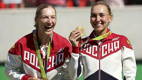 Несокрушимые и легендарная  / Екатерина Макарова и Елена Веснина выиграли олимпийское золото у Мартины Хингис