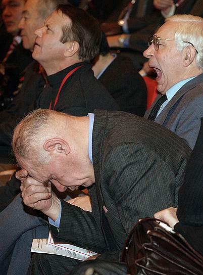 Участники съезда Коммунистической партии России в агрокомбинате «Московский», 2008 год