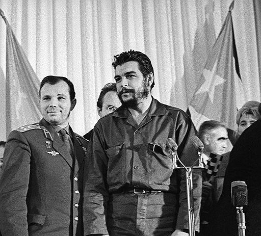 Юрий Гагарин и Че Гевара
