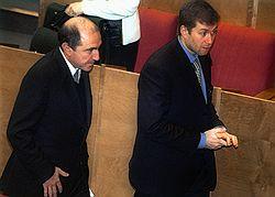 Борис Березовский и Роман Абрамович. 2000 год