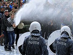 Протест молочников  в Брюсселе