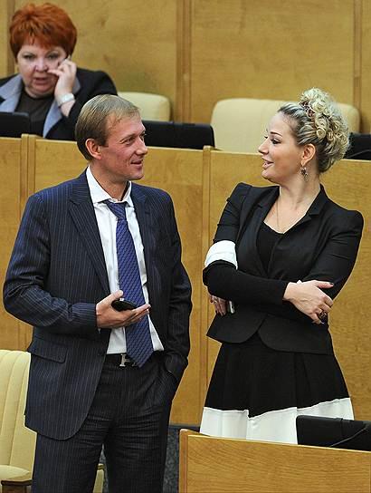Депутат Государственной думы Максим Рохмистров и член Комитета ГД по культуре Мария Максакова