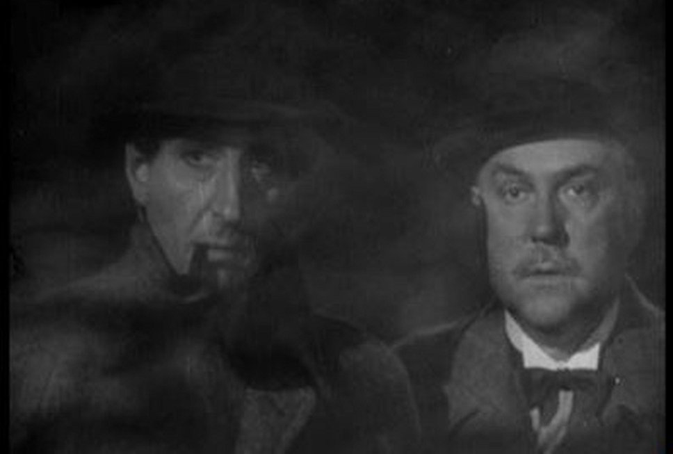 """В роли Шерлока Холмса Клайв Брук. Кадр из фильма """"Возвращение Шерлока Холмса"""", режиссер Бэйзил Дин. США, 1929 год"""