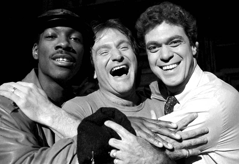 Одним из первых клубов, в котором работал Эдди был Bay Area Comedy Club, в котором также начинали свой путь актеры Робин Уильямс (на фото в центре) и Вупи Голдберг