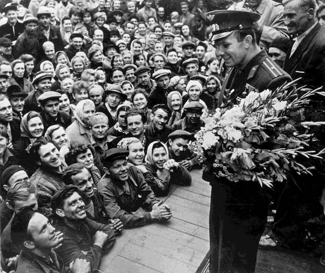 12 апреля 1961 года Юрий Гагарин стал первым человеком в мировой истории, совершившим полет в космос