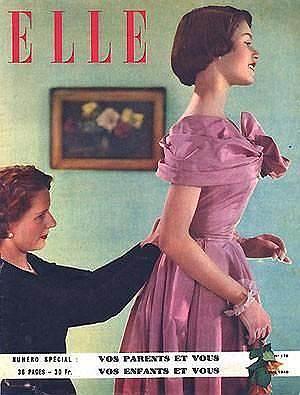 В возрасте 18 лет Брижит Бардо впервые снялась в кино и в тот же год вышла замуж за режиссера Роже Вадима. С 1952 по 1956 год молодая актриса снялась в 17 фильмах (в основном, в лирических комедиях и мелодрамах), а также играла в театре в постановке пьесы «Приглашение в замок». В 1953 году Бардо посетила Каннский кинофестиваль и начала набирать популярность <br>На фото: обложка журнала Elle с Брижит Бордо, 1950 год