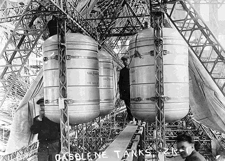 Топливные резервуары американского дирижабля USS Shenandoah (ZR-1), построенного в 1923 году