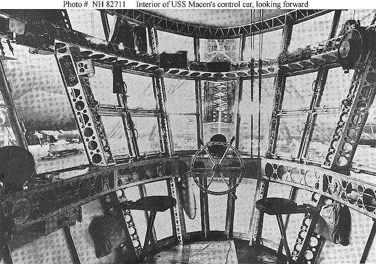Рулевая рубка американского дирижабля USS Macon (ZRS-5), построенного в 1933 году