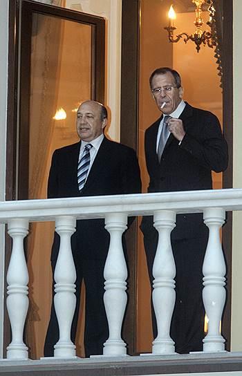 Министр иностранных дел России Сергей Лавров (справа) и бывший секретарь Совета безопасности России Игорь Иванов