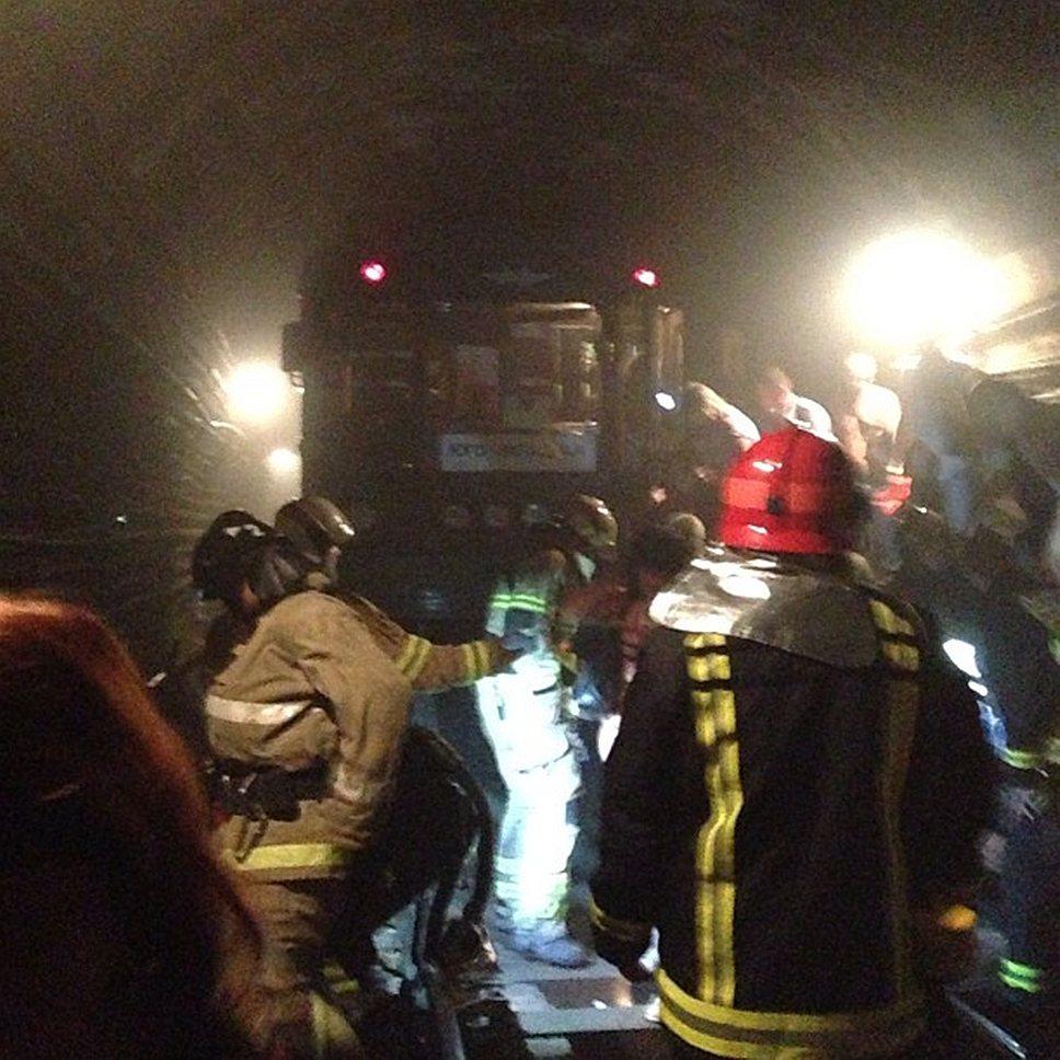 Возгорание на Сокольнической линии метро