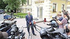 Сергей Собянин после подачи документов в Мосгоризбирком