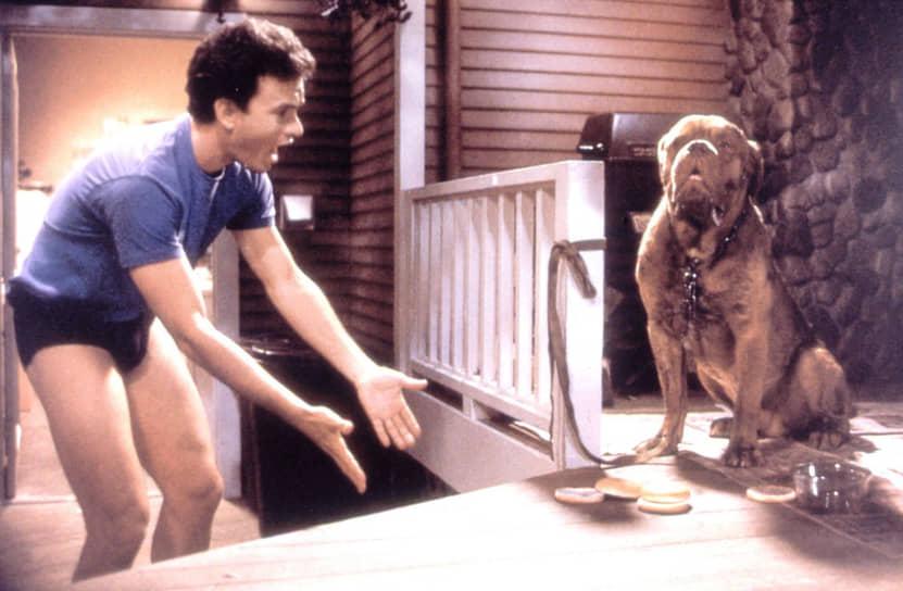 «Хуч научил меня многому. Если мне надо было его искупать, я не знал, что он сделает, когда я стану запихивать его в ванну. Я выходил на съемки без подробного плана действий, лишь в общих чертах представляя себе сюжетную линию, потому что я не играл выученную роль, а только реагировал на поведение Хуча»<br> Одним из наиболее успешных фильмов, в которых Том Хэнкс снялся в 1980-х, стал «Тернер и Хуч». В комедии Хэнкс сыграл полицейского, а его партнером выступил бордоский дог по имени Хуч. Как потом рассказывал актер, Хуча сыграли три разных пса