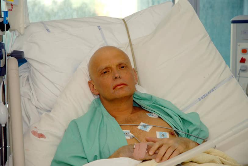 Первые сообщения о тяжелой болезни 43-летнего Литвиненко в британских СМИ появились в середине ноября 2006 года. Фото больного экс-сотрудника ФСБ были опубликованы во всех газетах и таблоидах