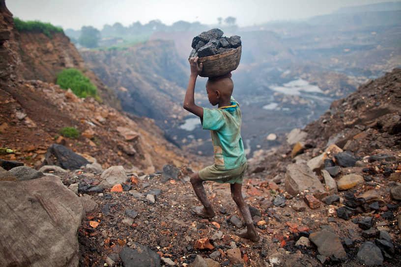 В округе с названием Джаинтия Хиллс (северо-восток Индии) работают несколько сотен юных горняков, добывающих уголь наравне со взрослыми. Некоторым детям в глубине шахты достается работа в очень узких туннелях (так называемых «крысиных норах»), так как попасть туда могут лишь люди с маленьким ростом или дети