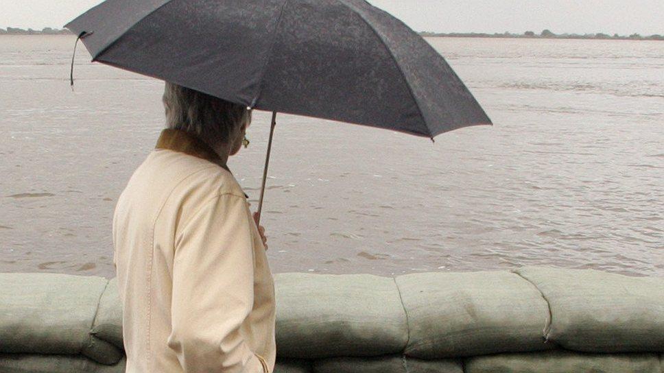 Набережная реки Амур в центре Хабаровска