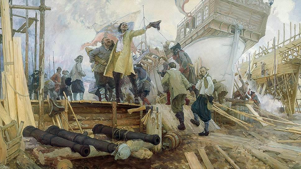 1699 год. Впервые русское судно под трехцветным флагом прибыло за границу (в Константинополь)