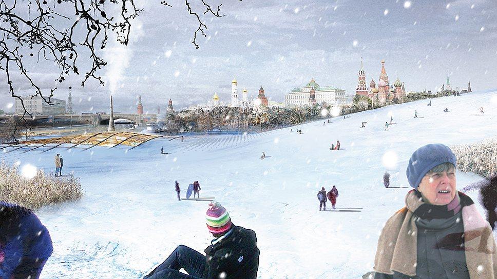 Парк «Зарядье» зимой