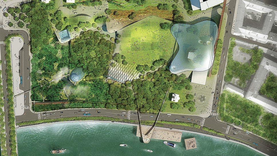 Мастер-план парка «Зарядье» по проекту команды победителя