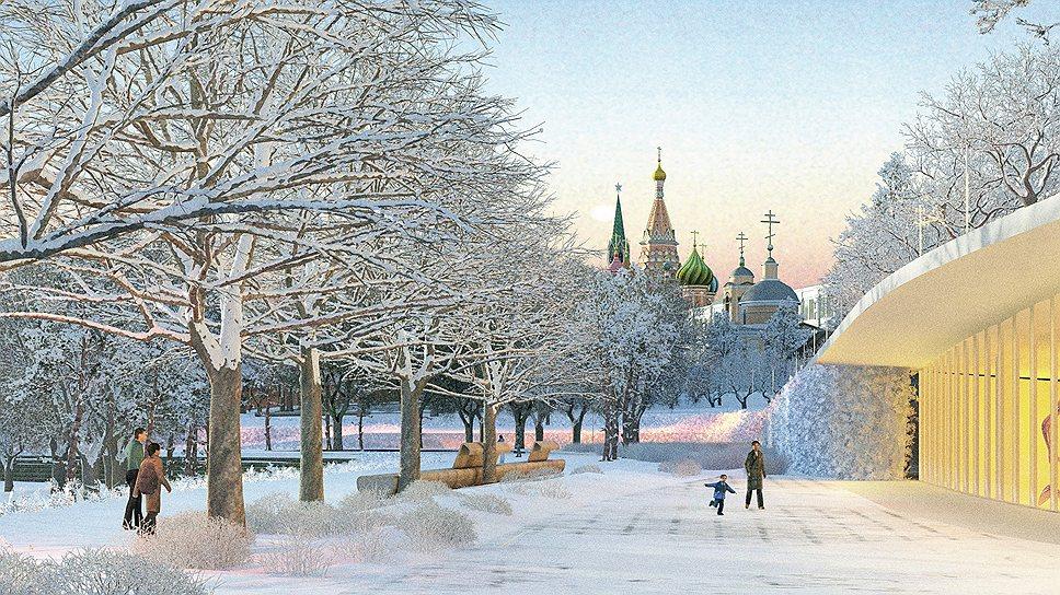 Парк зимой