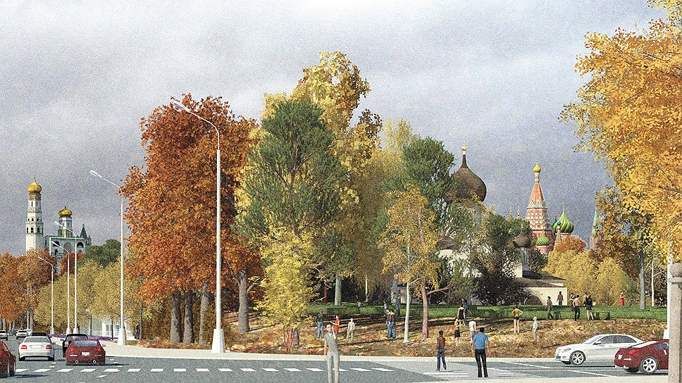 Вход в парк со стороны Китай-города