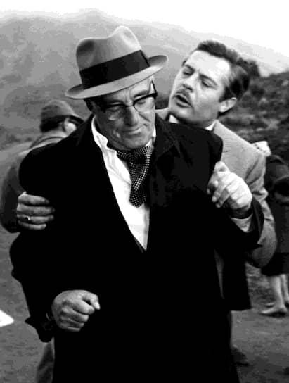 «Играешь тем лучше, чем меньше играешь» Марчелло Мастроянни снялся во многих фильмах итальянского режиссера Витторио Де Сика (слева), в том числе, «Брак по-итальянски»