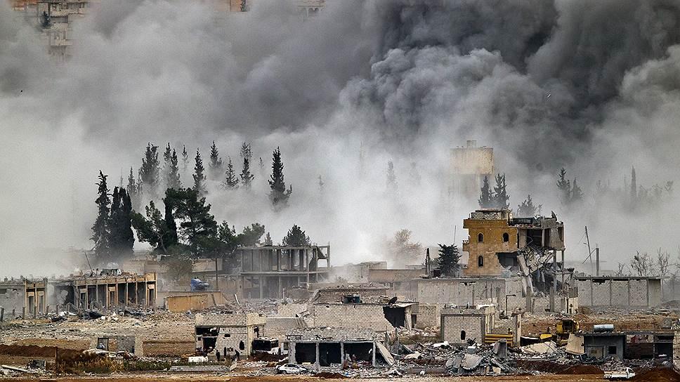 18 ноября 2014 года Наблюдательный совет по правам человека в Сирии сообщил, что курдские подразделения в городе Кобани на границе с Турцией частично выбили из города боевиков группировки «Исламское государство» (ИГ) из ряда строений и захватить часть их вооружения