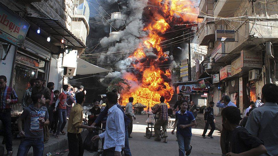 5 июня 2012 года в районе Алеппо были отмечены столкновения между правительственными силами и повстанцами. Бои за Алеппо рассматривались как решающие и правительством Сирии, и руководством антиправительственных сил