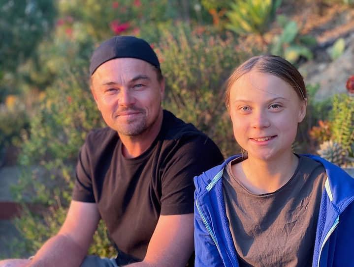 В начале ноября 2019 года Леонардо ди Каприо назвал 16-летнюю экологическую активистку из Швеции Грету Тунберг (на фото) «лидером нашего времени». В своем Instagram актер разместил фото с Гретой и написал, что «время бездействия прошло»