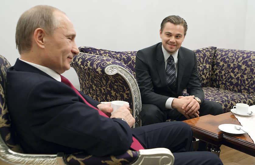 В 2010 году актер приезжал на «Тигриный форум» в Петербург. Леонардо Ди Каприо удостоился от президента РФ Владимира Путина звания «настоящего мужика»: по дороге в Санкт-Петербург самолет актера совершил две экстренные посадки, но все-таки долетел