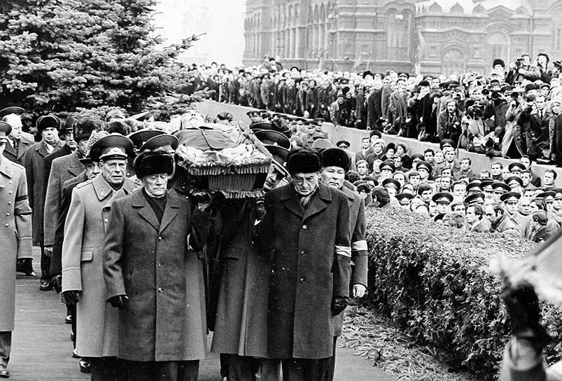 1982 год. Похороны Леонида Брежнева на Красной площади