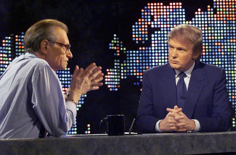 2 сентября 1987 году бизнесмен Дональд Трамп дал интервью Кингу, в котором заявил, что не собирается быть президентом. В ноябре 2016 года Трамп принял участие в президентской гонке,  по итогам которой был избран главой США