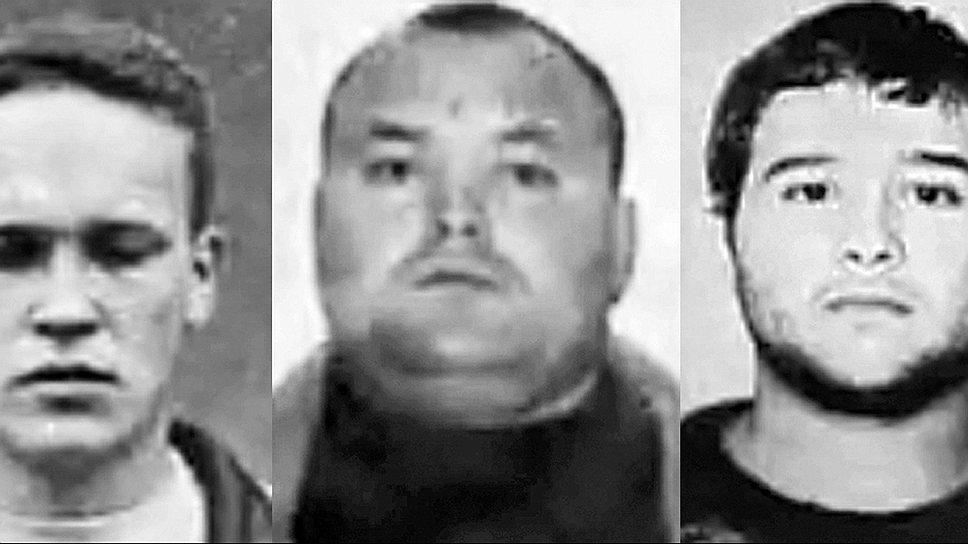 9 сентября 1996 года шесть членов Слоновской группировки похитили бизнесмена Ходжиева и потребовали выкуп. В том же месяце все они были задержаны, а впоследствии признались в совершении почти 20 заказных убийств. 1 октября прокуратура Рязанской области возбудила очередное уголовное дело против членов ОПГ. За короткий период была арестована большая часть «слоновских» киллеров во главе с Леонидом Степаховым (справа) <br>На фото слева направо: Дмитрий Могучёв («Ленин»), Александр Горелов («Морда»)
