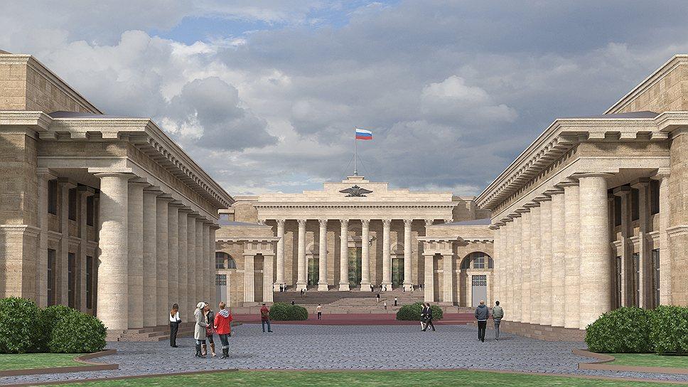 Главный вход в здание Верховного суда