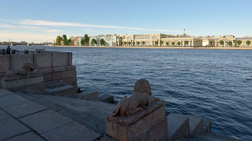 Набережная, где появится судебный квартал — последний незастроенный участок на Неве