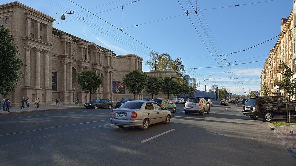 Вид на судебный квартал с проспекта Добролюбова