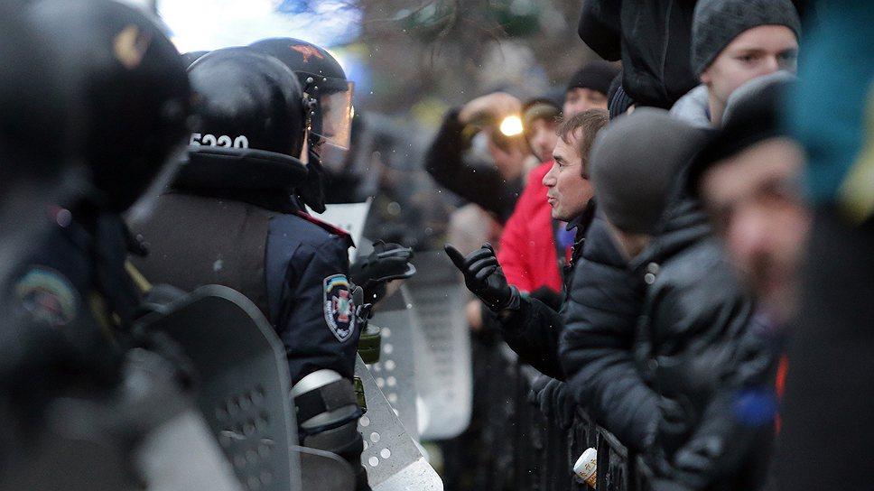 Часть задержанных в ходе протестов в Киеве отпустили