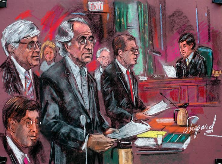 В ходе судебного процесса обвинение потребовало приговорить Мейдоффа к 150 годам лишения свободы. 29 июня 2009 года суд США согласился с доводами прокуратуры и приговорил афериста к полутора векам тюрьмы и выплате компенсации размером $170 млн. Процесс возврата средств потерпевшим от мошенничества продолжался вплоть до 2012 года