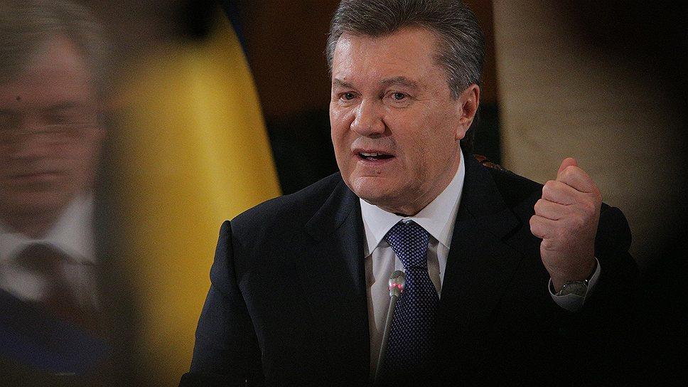 Как Виктор Янукович выслушал требования оппозиции