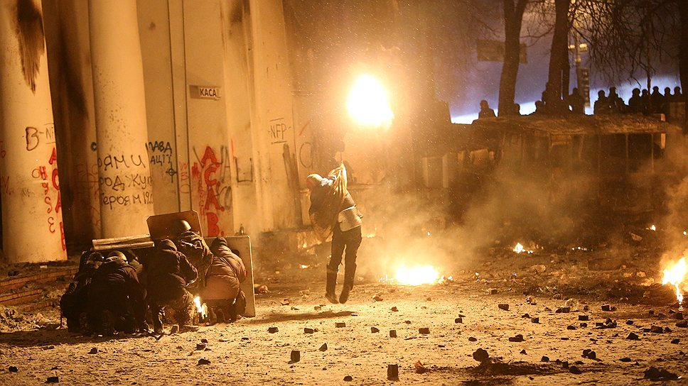 В Киеве продолжаются беспорядки