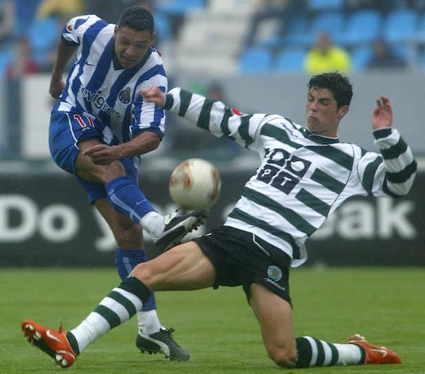 Роналду начал свою карьеру в лиссабонском «Спортинге» и стал единственным футболистом за историю клуба, сыгравшим за один сезон сразу за все составы этой команды — до 16, до 17, до 18 лет, резервный и основной