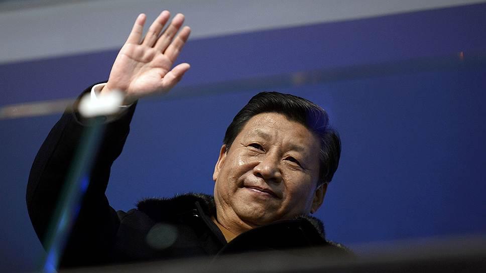 Президент КНР Си Цзиньпин во время церемонии открытия Олимпиады в Сочи