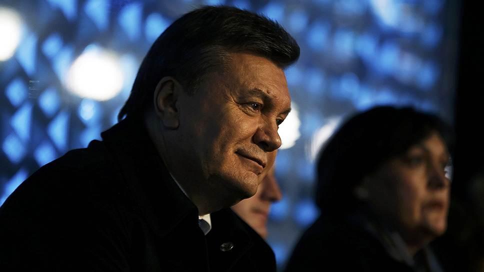 Президент Украины Виктор Янукович на церемонии открытия зимних Олимпийских игр в Сочи