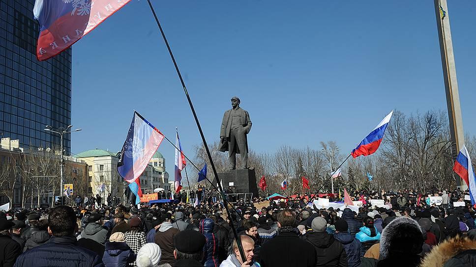 Как жители Донецка и Харькова митинговали за референдум