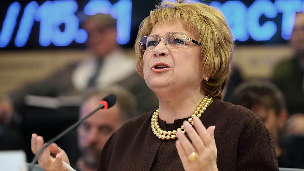Заместитель председателя Госдумы Людмила Швецова (умерла 29 октября 2014 года)